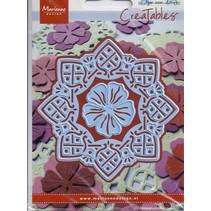 Skæring og prægning stencils Creatables, Doily firkantet