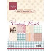Papierblock, A5, Vintage Pastels