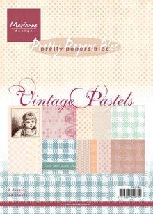DESIGNER BLÖCKE  / DESIGNER PAPER Pad di carta, A5, Vintage Pastels