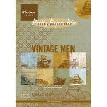 Papierblock, A5, Vintage Men