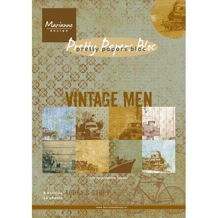DESIGNER BLÖCKE  / DESIGNER PAPER Pad de papel, A5, Hombres Vintage