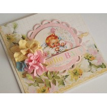 Hej Baby Nr08, designer papir, 30,5 x 30,5 cm