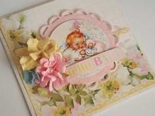 Designer Papier Scrapbooking: 30,5 x 30,5 cm Papier Hello Baby Nr08, Designerpapier, 30,5 x 30,5cm