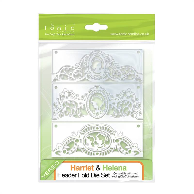 NEW with us: Cameo Silhouette stamping and embossing stencil of Tonic!
