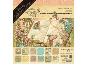 Graphic 45 Grafiske 45 Once Upon A Springtime, 30,5 x 30,5 cm, Deluxe Collectors Edition