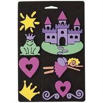 Foam rubber stamp set, princess, for children