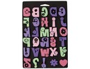 Kinder Bastelsets / Kids Craft Kits Moosgummi-Stempel Set, Gänseblümchen Alphabet, für Kindern