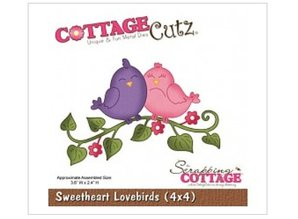 Cottage Cutz Stanz- und Prägeschablone, Sweetheart Lovebirds (4x4)