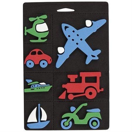 Kinder Bastelsets / Kids Craft Kits Conjunto de sello de espuma, transporte, tren y avión para los niños