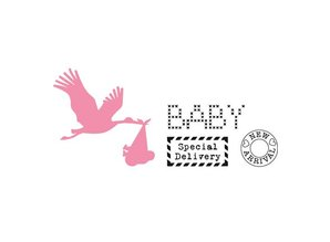 Marianne Design Cutting and embossing stencils, Collectables, Stork with Baby