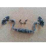 Embellishments / Verzierungen Nostalgisk Mini Scrapbook håndtag, 1 stk 8 x 3,5 cm
