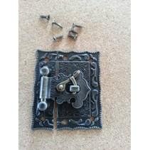 Nostalgisk Scrapbook lås, 1 stk, 5 x 4,3cm
