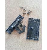 Embellishments / Verzierungen Nostalgisches Scrapbook Schloss, 1 Stück, 5 x 4,3cm