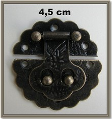 Embellishments / Verzierungen Nostalgic Scrapbook chiusura, 1 pezzo 4,5 centimetri