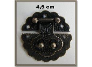 Embellishments / Verzierungen Nostalgisk Scrapbook lås, 1 stk 4,5 cm