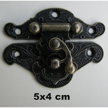 Embellishments / Verzierungen Nostalgisk Scrapbook lås, 1 stk, 5 x 4 cm