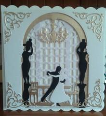 X-Cut / Docrafts Stansejern, 3D-billede design med skærematricer (5 stk) - Ballroom