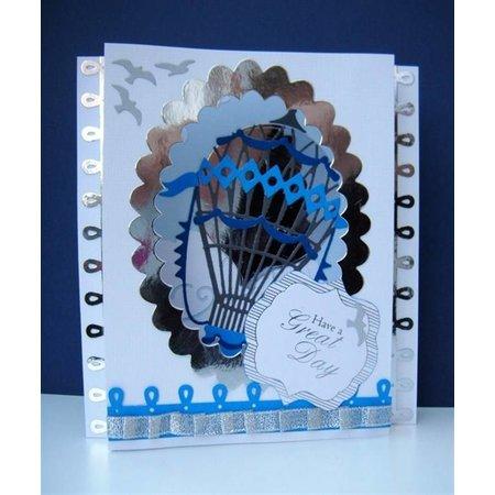 X-Cut / Docrafts XCut A5, stempling skabelon kit til 3D image design, luftballon Vintage