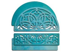 Spellbinders und Rayher Punch - og prægning stencil SET, Shapeabilities Arched Elegance