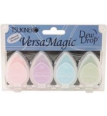 FARBE / INK / CHALKS ... Versamagic Dew Drop sæt - Pretty Pastel, 4 stykker
