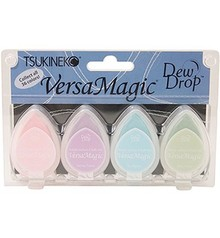 FARBE / INK / CHALKS ... Versamagic Dew Drop Set - Abbastanza pastello, 4 pezzi