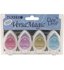 """FARBE / INK / CHALKS ... Versamagic Dew Drop sæt - """"Jewel Box"""", 4 stk"""