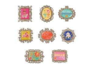 Embellishments / Verzierungen Sizzix, metaller dekorationer 8 frames