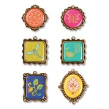 Embellishments / Verzierungen Sizzix, metaller dekorationer 6 ramme