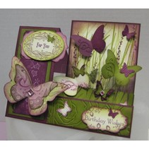 Base Cards: Quilted cards, set of 4