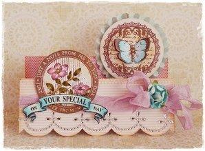 KARTEN und Zubehör / Cards Basemaps: 4 Quilt kort, hver med 2 runde motiver som vist (uden dekorationer)