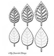 Die-namics Stanz - und Prägeschablone, My Favorite Things Die-namics Layered Leaves