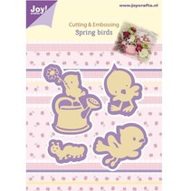 Joy Crafts, stamping - and embossing stencil, Spring Birds