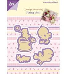 Joy!Crafts und JM Creation Joy Crafts, stamping - and embossing stencil, Spring Birds