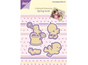Joy!Crafts und JM Creation Joy Crafts, stempling - og prægning stencil, Forår Fugle