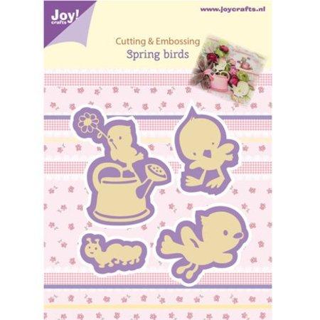 Joy!Crafts und JM Creation Alegría Manualidades, estampación - y stencil gofrado, pájaros de la primavera
