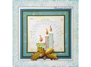 Leane Creatief - Lea'bilities Punching - and embossing stencil, candles