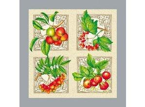 DECOUPAGE AND ACCESSOIRES Et sæt af 5 forskellige designer servietter: blomstermotiver