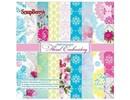 Wild Rose Studio`s Papel Scrapbooking, floral bordado