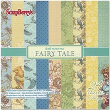 Wild Rose Studio`s Scrapbooking Paper Fairy Tale