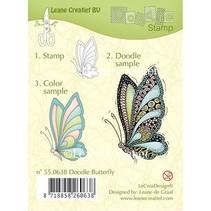 Sellos transparentes Leane creativo, mariposa