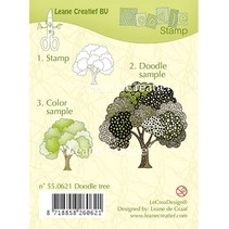 Gennemsigtige frimærker, doodle stempel: Tree