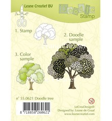 Leane Creatief - Lea'bilities Transparent stamps, doodle stamp: Tree