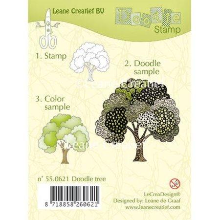Leane Creatief - Lea'bilities Transparent Stempel, doodle Stempel: Baum