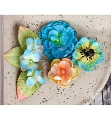 Prima Marketing und Petaloo Prima Flowers, flowers with leaves, 9 piece, 2:54 - 7cm