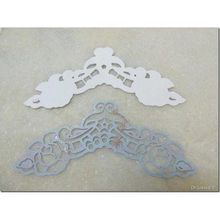 Marianne Design Corte y estampado en relieve plantillas, LR0281, Creatables, esquinas de Petra