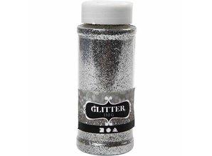 BASTELZUBEHÖR / CRAFT ACCESSORIES große glitter Streudose von 110gr, silber, gold oder weiß