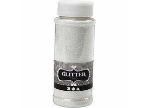 BASTELZUBEHÖR / CRAFT ACCESSORIES stor glitter shaker af 110gr, sølv, guld eller hvid