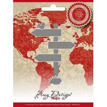 Corte y estampación plantillas, Amy Diseño Mapas Directorio