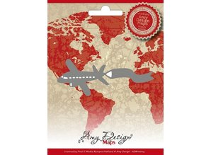 Amy Design Stanz- und Prägeschablonen, Amy Design Maps, Flugzeug