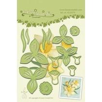 Leabilities, stampen - en embossing stencil, Daffodil